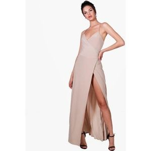 Boohoo Night Wrap Maxi Dress